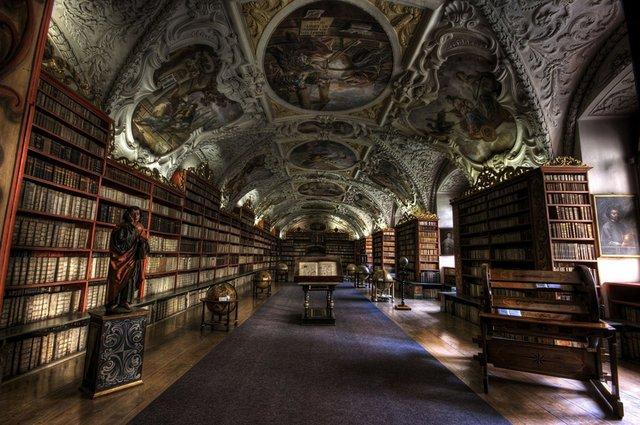 Страхов Духовной зал г. Прага Чешская Республика