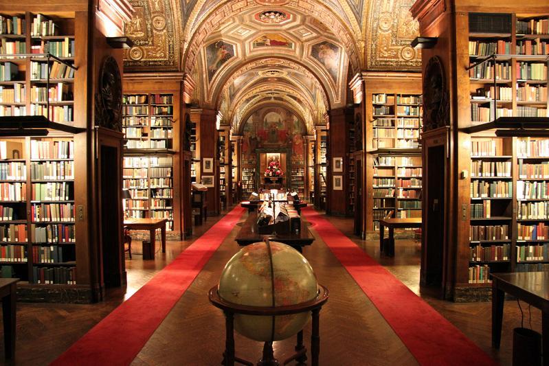 Библиотека-University-Club-в-Нью-Йорке-США