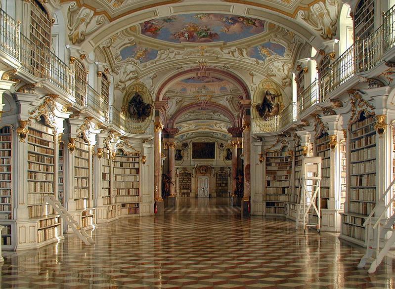 Библиотека аббатства Ad Mont, Австрия