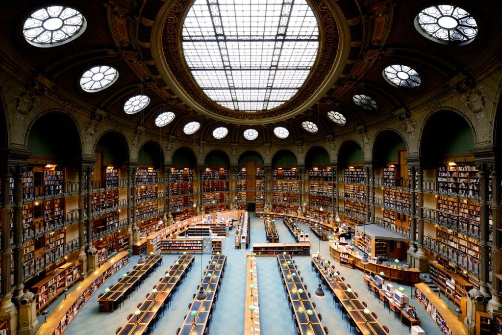 Читальный зал Национальной библиотеки Франции/National Library of France